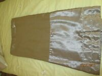 2 x sets of curtains 66 x 72 gold