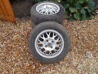 14 inch VW 4 stud aluminium wheels for sale