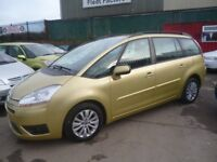 Citroen C4 GRAND PICASSO,1560 cc 7 seat MPV,new turbo fitted,great family car,tow bar,only 55,000