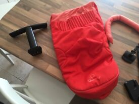 Red Quinny Mood Pram and Maxi Cosy Car Seat
