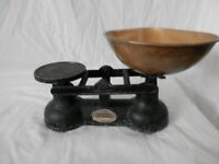 Antique Salter Scales with Brass Bowl