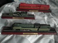 17 Atlas Editions collectable model trains - cost over £270... as new