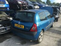 RENAULT CLIO DYNAMIQUE 16V 2001- FOR PARTS ONLY