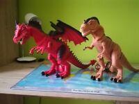 T-rex and dragon remote control