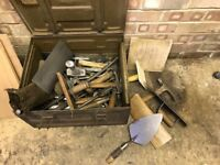 Complete set of Bricklaying Tools. Well looked After