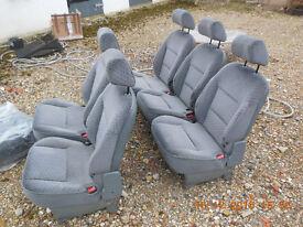 Citroen synergie, 806, zeta, ulysse rear seats and spare wheel.