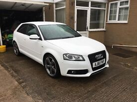 Audi A3 1.8tfsi 158BHP sline Black edition in very good condition