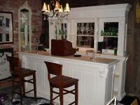 2.6m Home Bar/Pub Bar in White