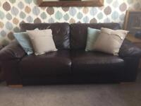 Brown Leather (faux) Sofa