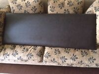 HEADBOARD FOR DOUBLE BED ,DARK BROWN IN GREAT CONDITION