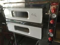 """CATERING COMMERCIAL BRAND NEW DOUBLE DECK PIZZA OVEN 8X 13"""" FAST FOOD COMMERCIAL KITCHEN SHOP PIZZA"""