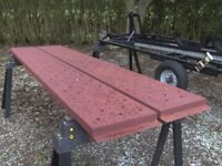 PAIR OF 9FT STEEL TRAILER/TRUCK RAMPS NICE CONDITION...