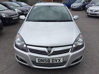 Vauxhall Astra 1.4 i 16v SXi 5dr2008 (58 reg), Hatchback(30days warrant)£1399