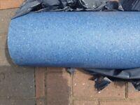 3mx3m Blue, Mottled, Vinyl Flooring
