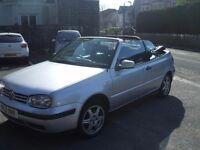 Golf Cabriolet SE automatic 127000 miles service history MOT 10/10/17 no advisories
