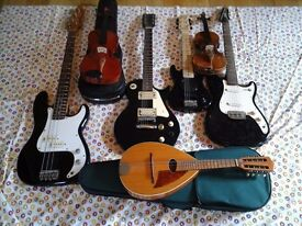 Guitars and other instruments for parts and repairs for sale!