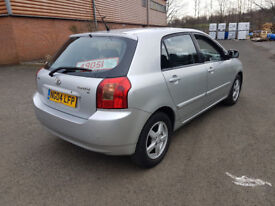 2004 TOYOTA COROLLA T3,2.0 D4D,90 BHP,MANUAL,SERVICE HISTORY,VERY ECONOMICAL,HPI CLEAR,**CHEAP CAR**