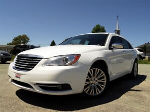 2012 Chrysler 200 LIMITED + CUIR + TOIT + NAVI + BAS KILO!!!
