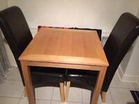 NEEDS A QUICK SALE NEED SPACE lovely table & 2 chairs fazakerley area