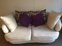 HALF LEATHER SOFA with HALF LEATHER CHAIR (***REDUCED***)