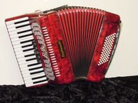Stephanelli 72 Bass Piano Accordion - Perloid Red - NEW Elite Mode