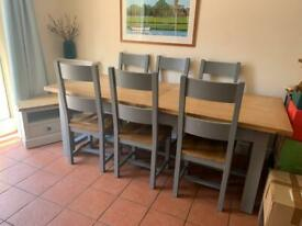 Cotswold Company Dining Table and 7 Chairs