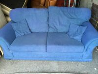 BLUE FABRIC 2 SEATER SOFA,CAN DELIVER