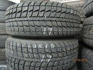 215/60R16  SET OF 4 USED FEDERAL WINTER TIRES ON MULTI FIT RIMS