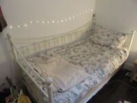 Single bed frame - almost new, with mattress if needed