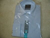 M&S FORMAL GENTS SHIRT, 15.5 COLLAR, LONG-SLEEVE, IMMACULATE/SEALED, QUICK SALE - BARGAIN