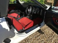 MGF 1.8i convertible 1996. White with red interior