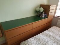 Bargain! 1x Ikea Bedroom Drawers, 1x Tall Makeup Drawer & 2x Bed Side Tables - Perfect Condition!
