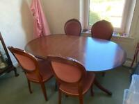 Solid, extendable, mahogany dining table