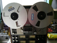 "teac ac 3340 real to real 4 track tape recorder/player&3 metal spools/tape and extra""s."