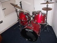 PACIFIC DRUM KIT 5 DRUMS COMPLETE AND READY TO PLAY
