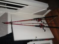 Fishing rods (NEW) 7ft shakespear with reel and line