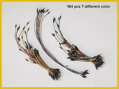 164 Pcs Solderless Breadboard Jumper Wires - 7 Colors