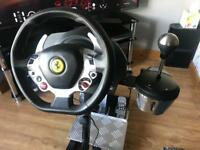 Xbox one thrustmaster steering wheel ( complete with gearstick and pedals )