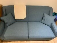 Teal Blue Made Sofa Bed