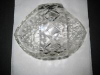 Doulton cut glass crystal basket/vase bowl in original box