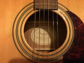 Fender simi acoustic guitar