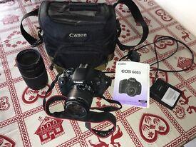 Canon EOS 600D camera & lense
