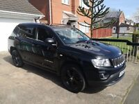 2012 Jeep Compass Sport + Plus CRD 2.2 Turbo Diesel Black 59k miles MOT 01/18 Full Service H 2 keys
