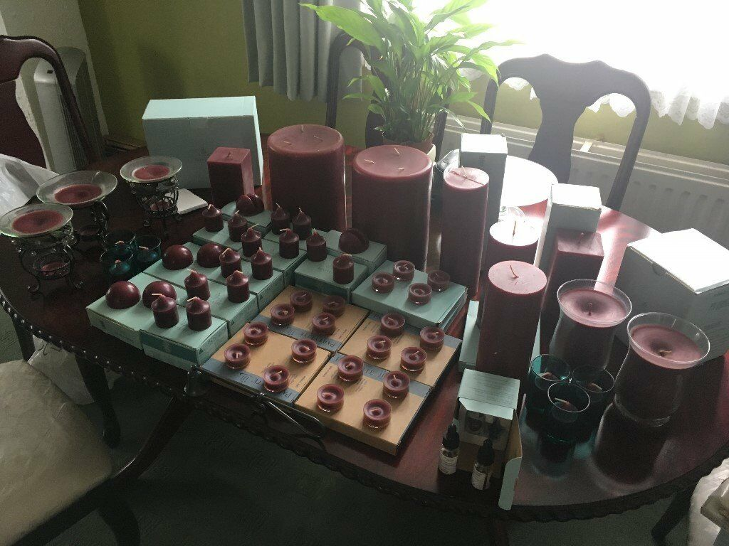 Bulk variety of Partylite candles. Mullberry colour/scent