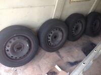 4 Vauxhall Vivaro wheels/tyres