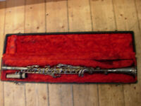 Silver metal clarinet -V.collectible, great-looking. Bargain price-needs repair or gorgeous display
