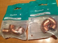 Proflame Endfeed copper elbow 15mm x 4 (2 x 2 pack)