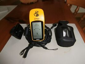 Garmin eTrex 12 Channel Handheld GPS Receiver C/W cycle handle bar mount and separate case