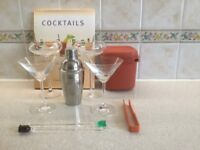 Cocktail Shaker with Cocktail Glasses