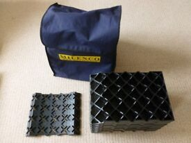 Milenco Stacka Blocks x 6 with Tyre Saver and Carry Case for caravan